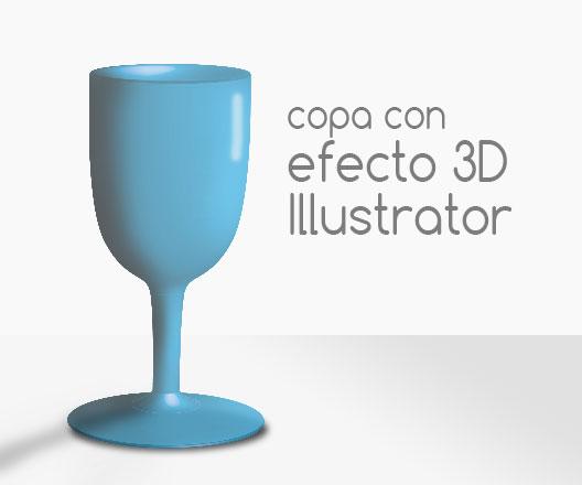 Tutorial de Illustrator para crear una copa 3D